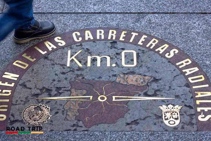 roads in spain: km zero in Madrid, Spain