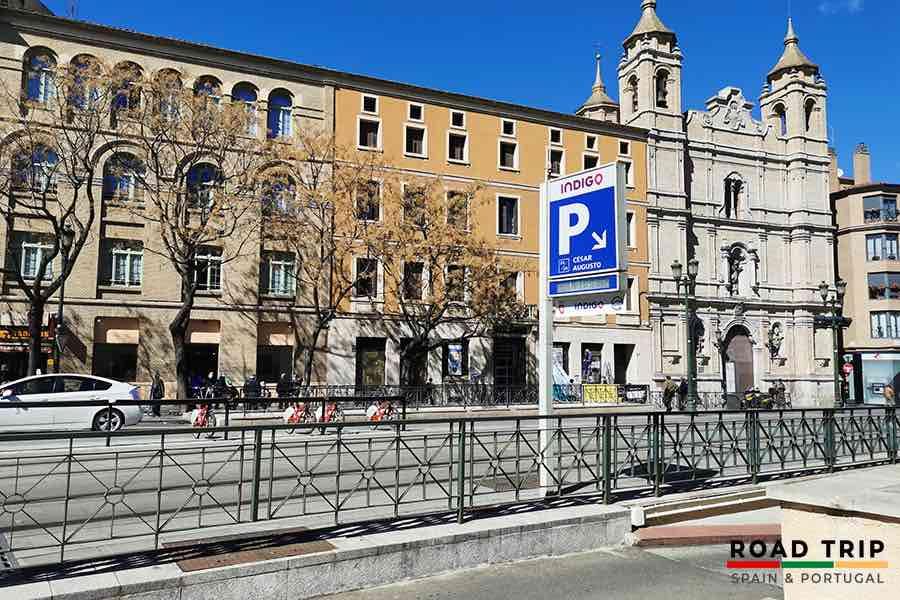 parking in spain: underground car park
